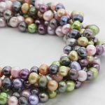 Potato Cultured Freshwater Pearl Beads,<b>Supplies</b> For <b>Jewelry</b>, multi-colored, 8-9mm, Hole:Approx 0.8mm, Approx 15 Inch Strand