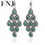 925 <b>Silver</b> Statement <b>Earring</b> Women Chalcedony Synthetic Garnet MARCASITE S925 Thai <b>Silver</b> boucle d'oreille Drop <b>Earrings</b>