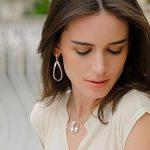 New Fine <b>Sterling</b> 925 <b>Silver</b> <b>Earrings</b> Women Lucky Geometric Dangle <b>Earrings</b>