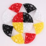 Taidian <b>Native</b> <b>American</b> Round Circle Pendant Inlay Resin Cabochons Fan Shape 4colors/set 400pcs/100set/lot 15*21mm Mix Color