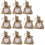10pcs Khaki Linen Bag Sack Drawstring <b>Jewelry</b> Bags Candy Beads Gift Party Pouch Khaki