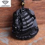genuine Obsidian wholesale <b>supply</b> Obsidian pendant <b>jewelry</b> for men and women section Everything is going smoothly.Made in China