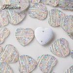 Taidian 50PCS 14mm Heart FlatBack Stones and AB Crystal Resin Rhinestone DIY Gems For DIY <b>Jewelry</b> Making Accessories
