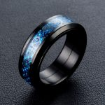 Dragon pattern rotate ring Stainless Steel biker Hip Hop Punk Rock Male Personality halloween party <b>supplies</b> Vogue <b>Jewelry</b>