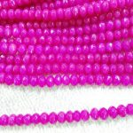 2strands 2×4-10x16mm Jade Rondelle Abacus Faceted Beads Ruby fushisia red Blue Black Pink Red <b>jewelry</b> making <b>supplies</b>