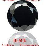 MRHUANG AAA Grade CZ Cubic Zirconia BLACK Round Zircon Stone 3.0/3.5/4.0MM DIY <b>Jewelry</b> Findings <b>Supplies</b> Free Shipping