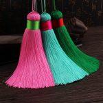 10pcs Mixed Color Handmade Silk Tassels Satin Bohemian Tassel <b>Supplies</b> Large And Thick Silk Tassel <b>Jewelry</b> <b>Supplies</b>