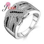 PATICO Luxury Women Wedding Engagement <b>Rings</b> 100% 925 <b>Sterling</b> <b>Silver</b> Jewelry CZ Crystal <b>Ring</b> Vintage Fine Jewelry