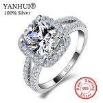 Big Promotion!!! Fine Jewelry 100% Real 925 <b>Sterling</b> <b>Silver</b> <b>Ring</b> 3 Carat CZ Diamant Engagement Wedding <b>Rings</b> For Women JZR066