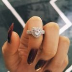 Moonso 2018 New Arrival 925 real <b>sterling</b> <b>Silver</b> Heart cut Engagement for Women love girl Promise <b>Rings</b> Jewelry R1505