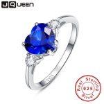 2.25Ct Genuine 925 <b>Sterling</b> <b>Silver</b> Hot Sale Heart <b>Ring</b> Brand Jewelry Classic s925 <b>ring</b> Sapphire Jewelry Love <b>Rings</b>
