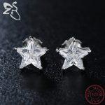 ZS Star <b>Earrings</b> Quality Inlay AAA Cubic Zirconia <b>Earring</b> Wedding Party Gifts 925 <b>Sterling</b> <b>Silver</b> Stud <b>Earrings</b> for Women Girls