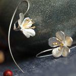 925 <b>Sterling</b> <b>Silver</b> Flower Long Tassel <b>Earrings</b> For Women Thai Process Elegant Lady <b>Sterling</b>–<b>silver</b>-jewelry Free Shipping