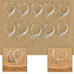 Free Fast Ship 100Pcs Making Jewelry Findings <b>Sterling</b> <b>Silver</b> Color Hoop Circle Hook <b>Earring</b> Earwires DIY Jewelry Made Beads