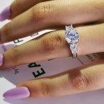 original real solid Three Stone 925 <b>Sterling</b> <b>Silver</b> Engagement <b>Rings</b> Fashion Style 3 Carat Cubic Zirconia <b>Rings</b> Jewelry R1597