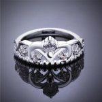 Size 7/8 Clear Cubic Zirco 925 <b>Sterling</b> <b>Silver</b> Crown <b>Ring</b> Women Gift Jewelry Brand Wedding Engagement <b>Silver</b> <b>Rings</b>