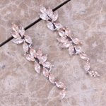 Valuable Brown Morganite 925 <b>Sterling</b> <b>Silver</b> Drop Dangle <b>Earrings</b> For Women S0204
