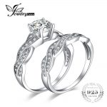 JewelryPalace Infinity 1.5ct Simulated Diamond Anniversary Promise Wedding Band Engagement <b>Ring</b> Bridal Sets 925 <b>Sterling</b> <b>Silver</b>