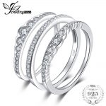 JewelryPalace 0.7ct Cubic Zirconia 3 Pcs Stackable Wedding Band Anniversary Engagement <b>Ring</b> Bridal Sets Pure 925 <b>Sterling</b> <b>Silver</b>