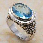 Brand New 12*14mm Blue Crystal Zircon 925 <b>Sterling</b> <b>Silver</b> <b>Ring</b> Free Shipping F365 USA size 6 7 8 9 10