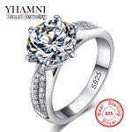 Lose Money Promotion! Fine Jewelry 100% Solid <b>Sterling</b> <b>Silver</b> <b>Ring</b> Inlay 2 Carat SONA CZ Diamant Wedding <b>Rings</b> for Women BKJZ012