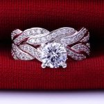 Size 3-12 925 <b>Sterling</b> <b>Silver</b> Cubic Zirconia Crystal Rhinestone Wedding Engagement Mother's Day Band <b>Ring</b> Pair Set Propose