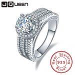 JQUEEN wedding <b>rings</b> 3.45ct cubic zirconia stone 925 <b>Sterling</b> <b>Silver</b> <b>Rings</b> for Women engagement <b>ring</b> Aneis Delicado with box
