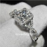 Victoria Wieck Fashion Jewelry AAA Cubic Zirconia Gem 925 <b>Sterling</b> <b>Silver</b> Engagement Wedding <b>Ring</b> Sz 5-11 Free shipping Gift