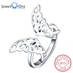 Adjustable Butterfly Accessories 925 <b>Sterling</b> <b>Silver</b> <b>Rings</b> For Women Fashion Party Jewelry Gift Ideas For Her(JewelOra RI101802)