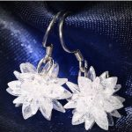 Fashion Jewelry <b>Earrings</b>,Dangle <b>Earrings</b> 925 <b>Sterling</b> <b>Silver</b> <b>earrings</b> ,white Crystal <b>earrings</b> for women and girls