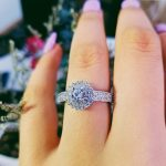 original design classic pave setting 925 <b>Sterling</b> <b>Silver</b> Women Wedding Engagement <b>Rings</b> For halo finger <b>ring</b> gifts Jewelry R783