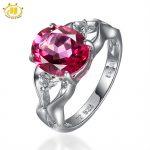 Hutang Brand Engagement <b>Rings</b> Pink Topaz Genuine Gemstone <b>Ring</b> for Women Fine Solid 925 <b>Sterling</b> <b>Silver</b> Jewelry Wedding New 2017