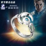 STAR TREK Models Enterprise Starfleet NO.NCC-1701 925 <b>sterling</b> <b>silver</b> <b>ring</b> Spock hot tv series Christmas Gift
