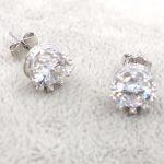 HeeZen 925 <b>Sterling</b> <b>Silver</b> Stud <b>Earrings</b> for Women Fashion Fire Opal <b>Earrings</b> Party Wedding Jewelry