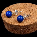 925 <b>sterling</b> <b>silver</b> natural blue lapis lazuli Stud <b>Earrings</b> for women fashion jewelry brinco brincos pendientes orecchini