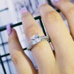 original real solid arrivals Real 925 <b>Sterling</b> <b>Silver</b> Wedding Engagement <b>Ring</b> Princess Cut fashion hot Jewelry Wholesale R645