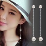 2017 hot sell high quality fashion shell pearl 925 <b>sterling</b> <b>silver</b> ladies`long stud <b>earrings</b> jewelry wholesale birthday gift