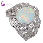 Retro vintage Fashion <b>Ring</b> for women White Fire Opal 925 <b>Sterling</b> <b>Silver</b> jewelry <b>ring</b> size 5 6 7 8 9 R416