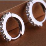 <b>Sterling</b>–<b>silver</b>-jewelry pendientes mujer <b>earrings</b> 925 brincos plata earing stud orecchini oorbellen women jewelry crystal HKLM