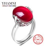 Promotion!!! 2017 Latest Fashion 925 <b>Sterling</b> <b>Silver</b> Opening <b>Ring</b> Natural Red Crystal Adjustable Size <b>Rings</b> for Women BKJZ012