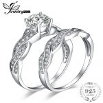 JewelryPalace Infinity 1.5ct Cubic Zirconia Anniversary Promise Wedding Band Engagement <b>Ring</b> Bridal Sets 925 <b>Sterling</b> <b>Silver</b>