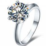 choucong Hot Solitaire 2ct AAAAA zircon cz 925 <b>Sterling</b> <b>silver</b> Women engagement Wedding Band <b>Ring</b> Sz 4-10 Gift