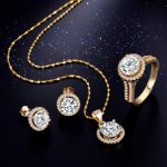 95% off Wedding Jewelry Sets for Brides 925 <b>Sterling</b> <b>Silver</b> Yellow Gold Color Stud Earrings <b>Ring</b> Necklace Bridal Jewelry Set