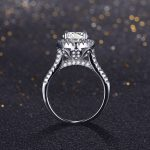 Hot sale Fashion Luxury Women Engagement <b>Ring</b> 925 <b>sterling</b> <b>Silver</b> AAAAA Zircon Female Wedding Finger Flower Crwon Wedding Bands