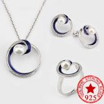 925 <b>Sterling</b> <b>Silver</b> Jewelry for Women Fresh Water Pearl Wedding engagement jewelry for women bridal Necklace J3108S