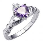 Exquisite Purple Crystal Zircon 925 <b>Sterling</b> <b>Silver</b> High Quantity <b>Ring</b> Beautiful Jewelry Size 5 6 7 8 9 10 11 12 F1527