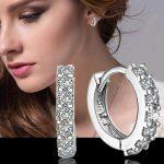 Crystal Earing Brincos 925 <b>Sterling</b>–<b>silver</b>-jewelry Pendientes Mujer <b>Earrings</b> 925 plata stud orecchini oorbellen women jewelry