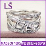 LS High Quality 100% Real 925 <b>Sterling</b> <b>Silver</b> Delicate Sentiments <b>Ring</b> For Women DIY Fashion <b>Rings</b> 100% Fine Jewelry H