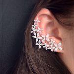 Luxury Elegant Women Clear AAA Cubic Zirconia Flower Stud <b>Earrings</b> White Asymmetry S925 <b>Sterling</b> <b>Silver</b> Needles Pin <b>Earrings</b>