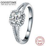 Promotion <b>Silver</b> 925 Jewelry 100% Pure 925 <b>Sterling</b> <b>Silver</b> Engagement <b>Ring</b> Set 2 Carat Zirconia Wedding <b>Rings</b> For Women GTR040